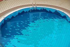 Swimming pool inside the hotel Royalty Free Stock Images