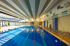Swimming pool interior Stock Image