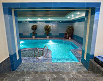 Swimming pool interior Royalty Free Stock Image