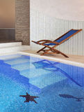 Swimming pool interior Stock Images