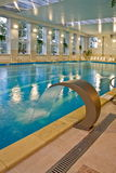 Swimming pool interior. Deserted interior of the big swimming pool Stock Image