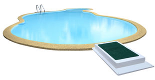 Swimming pool isolated. On white background royalty free stock image