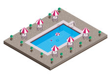 Swimming pool. Isometric  design Stock Photos