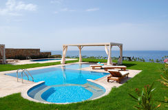 Swimming pool with jacuzzi Royalty Free Stock Image