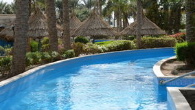 The swimming pool with jacuzzi at luxury hotel. Sharm el Sheikh, Egypt stock video footage
