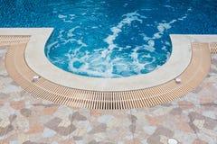 Swimming pool. Jacuzzi water circulation in beautiful swimming pool Stock Images