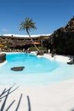 Swimming pool in the Jameos del Agua. Lanzarote. Stock Photo