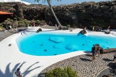 Swimming pool in the Jameos del Agua. Lanzarote Stock Image