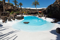 Swimming pool in the Jameos del Agua. Lanzarote. Stock Images