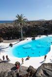 Swimming pool in the Jameos del Agua. Lanzarote. Royalty Free Stock Photos
