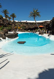 Swimming pool in the Jameos del Agua. Lanzarote. Royalty Free Stock Image
