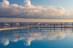 Swimming pool in Kato Stalos beach, Chania prefecture, Western Crete, Greece Royalty Free Stock Photos