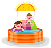 Swimming pool with kids Stock Photography