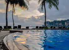 Swimming pool on Krabi railay beach Stock Photography