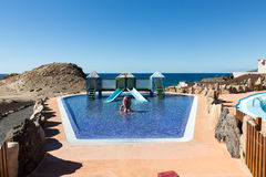 Swimming pool in La Pared on Feurteventura, Royalty Free Stock Images