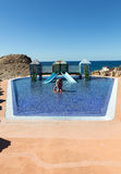 Swimming pool in La Pared on Feurteventura Royalty Free Stock Images