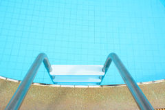 Swimming pool laddder Stock Photo
