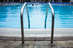 Swimming Pool Ladder Close-up royalty free stock images