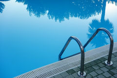 Swimming Pool Ladder Stock Photo