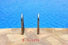 Swimming Pool Ladder Handrail Stock Photo