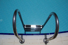 Swimming pool ladder Royalty Free Stock Image