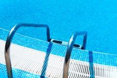 Swimming Pool ladder Stock Image