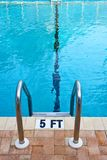 Abstract View of Pool Ladder Stock Photos