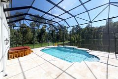 Swimming Pool with Lake View Royalty Free Stock Photo
