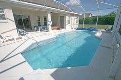 Swimming Pool and Lanai. A Swimming Pool, Hot Tub and Lanai in Florida Royalty Free Stock Photography