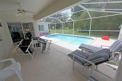 Swimming Pool and Lanai Royalty Free Stock Images