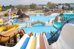 Aquapark in Tunisian hotel Royalty Free Stock Photography