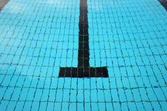 Swimming pool lane Stock Images