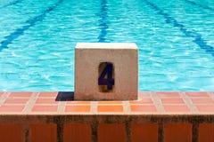 Swimming Pool Lane number 4 Royalty Free Stock Photo