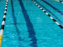 Swimming pool lane. In outdoor pool Stock Photo