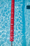 Swimming pool and lane rope Royalty Free Stock Image