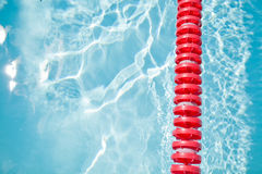 Swimming pool and lane rope Royalty Free Stock Photography