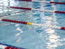 Swimming pool lane ropes Stock Photo