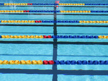 Swimming pool lane ropes Stock Images