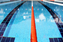 Swimming pool lane Ropes Stock Image
