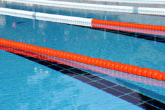 Swimming pool lane Ropes Royalty Free Stock Image