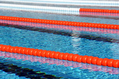 Swimming pool lane Ropes Royalty Free Stock Photography