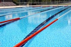Swimming pool lanes Stock Image