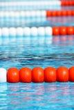 Swimming pool lanes Stock Photography