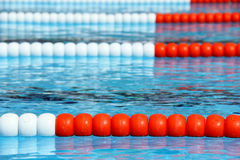 Swimming pool lanes Royalty Free Stock Photography