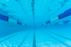 Swimming Pool Lane Underwater  Stock Image