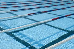 Swimming pool lanes Royalty Free Stock Photo