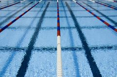 Swimming pool lanes Stock Photos