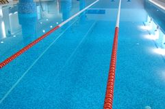 Swimming Pool with Lanes Royalty Free Stock Image
