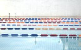 Swimming pool lanes. Image of swimming pool and lanes Royalty Free Stock Image