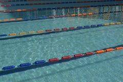 Swimming pool lanes. Image of swimming pool and lanes Royalty Free Stock Photo